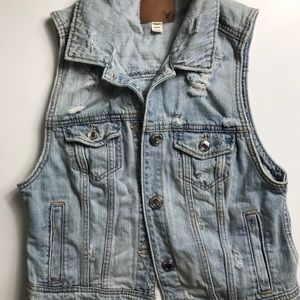 American Eagle Outfitters Jean Vest